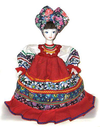 Кукла на чайник Голубушка