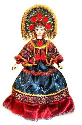 Краса кукла на чайник