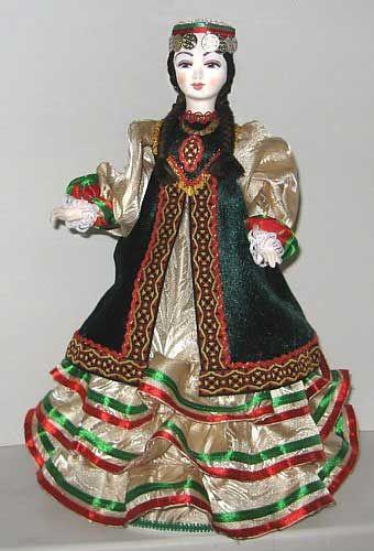 Башкирочка кукла-конфетница