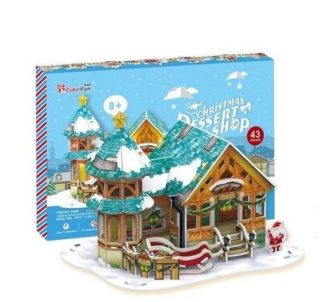 Рождественский домик 3 с подсветкой