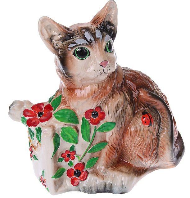 Копилка Кот с подарком
