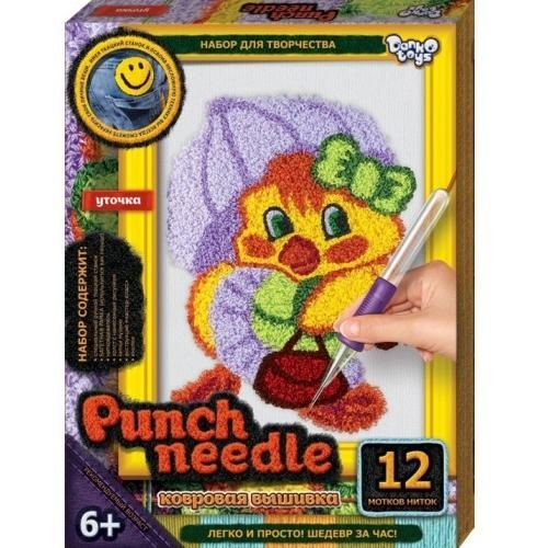 Ковровая вышивка Punch Needle. Уточка