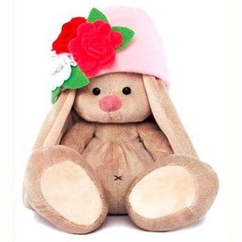 Зайка Ми в шапочке с цветами