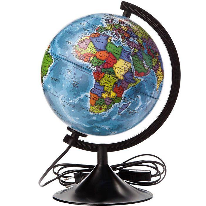 Глобус политический с подсветкой, диаметр 32 см