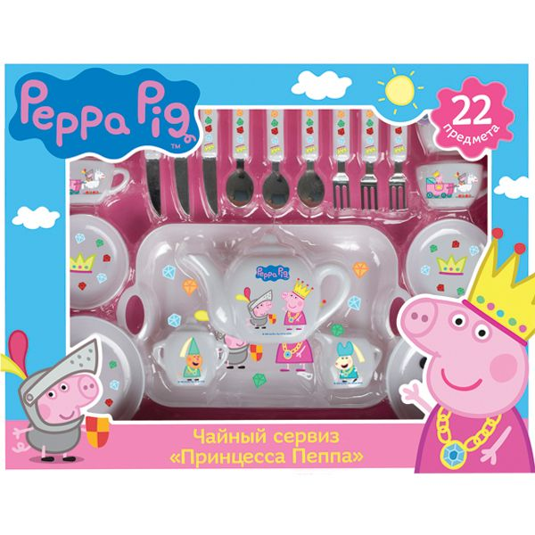 Набор посуды Принцесса Пеппа 22 предмета